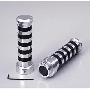 シャドウ400(SHADOW) アルミグリップ Φ1インチ(25.4mm)ハンドル用 TYPE2 クロームメッキ HURRICANE(ハリケーン)|zerocustom