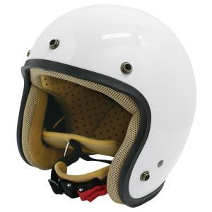 【セール特価】JET-D(ジェット・ディー)パールホワイト レディースフリーサイズ(57-58cm)ジェットヘルメット DAMM TRAX(ダムトラックス)|zerocustom