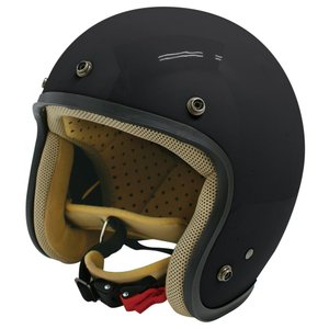 【セール特価】JET-D(ジェット・ディー)パールブラック レディースフリーサイズ(57-58cm)ジェットヘルメット DAMM TRAX(ダムトラックス)|zerocustom