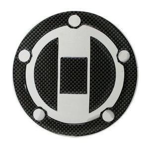 GSR400 スズキ車5穴汎用 タンクキャップカバー2 カーボンルック MAD MAX(マッドマックス)|zerocustom