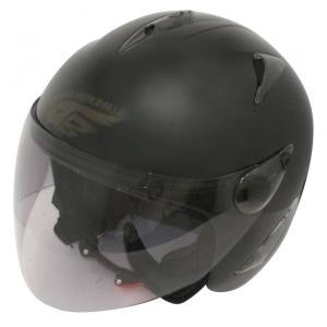 【セール特価】BIRDバードヘルメットマットブラック(G-3)フリーサイズ ジェットヘルメット DAMM TRAX(ダムトラックス)|zerocustom
