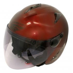 【セール特価】BIRDバードヘルメットマルーン(G-4)フリーサイズ ジェットヘルメット DAMM TRAX(ダムトラックス)|zerocustom