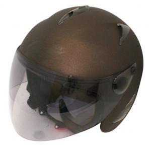 【セール特価】BIRDバードヘルメットマットブラウン(G-6)フリーサイズ ジェットヘルメット DAMM TRAX(ダムトラックス)|zerocustom