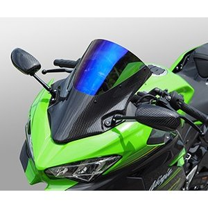 Ninja400(ニンジャ400)18年 バイザースクリーン/綾織りカーボン製/クリア MAGICAL RACING(マジカルレーシング)|zerocustom