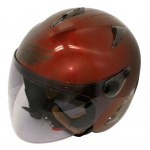 【セール特価】BIRDバードヘルメット レディース用 マルーン(G-4)フリーサイズ ジェットヘルメット DAMM TRAX(ダムトラックス)|zerocustom