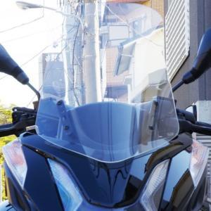 トリシティ125(TRICITY125) ロングスクリーン クリア 560mm WORLD WALK(ワールドウォーク)|zerocustom