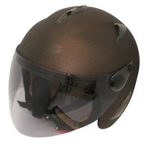 【セール特価】BIRDバードヘルメット レディース用 マットブラウン(G-6)フリーサイズ ジェットヘルメット DAMM TRAX(ダムトラックス)|zerocustom
