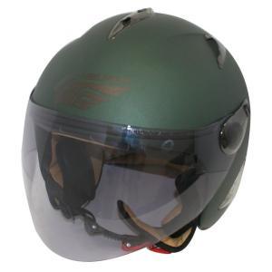 【セール特価】BIRDバードヘルメット レディース用 マットグリーン(G-7)フリーサイズ ジェットヘルメット DAMM TRAX(ダムトラックス)|zerocustom