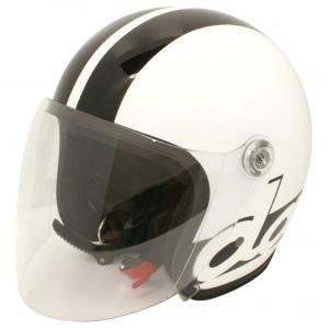 【セール特価】JET-S DAMM&RAX(ダム&ラックス)ホワイト/ブラック フリーサイズ(57cm〜60cm)シールド付ヘルメット DAMM TRAX(ダムトラックス)|zerocustom