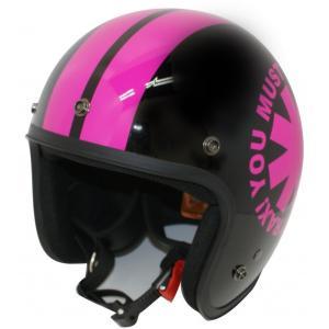 【セール特価】JET-D(ジェット・ディー)ウィール ブラック/ピンク フリーサイズ(57cm〜60cm未満)ジェットヘルメット DAMM TRAX(ダムトラックス)|zerocustom