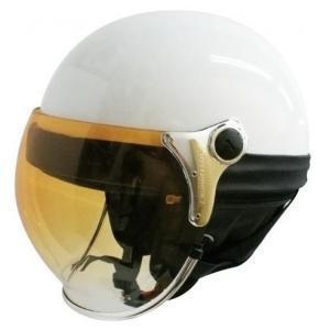 【セール特価】BUBBLE BEE HALF(バブルビーハーフ)パールホワイト フリーサイズ(57cm〜60cm) ハーフヘルメット DAMM TRAX(ダムトラックス)|zerocustom