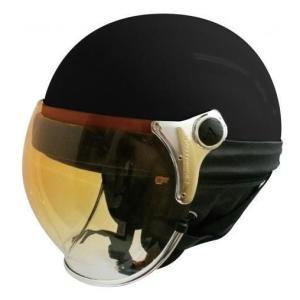 【セール特価】BUBBLE BEE HALF(バブルビーハーフ)パールブラック フリーサイズ(57cm〜60cm) ハーフヘルメット DAMM TRAX(ダムトラックス)|zerocustom