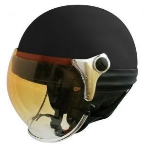 【セール特価】BUBBLE BEE HALF(バブルビーハーフ)マットブラック フリーサイズ(57cm〜60cm) ハーフヘルメット DAMM TRAX(ダムトラックス)|zerocustom