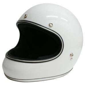 【セール特価】AKIRA(アキラ) ホワイト Lサイズ (フルフェイスヘルメット) DAMM TRAX(ダムトラックス)|zerocustom
