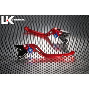 KTM 125DUKE(デューク) GPタイプ ロングアルミビレットレバーセット(レッド) U-KANAYA zerocustom