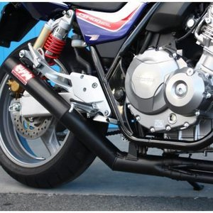 CB400SF HYPER VTEC Revo(08年〜) ワンピース ブラック フルエキゾーストマフラー MORIWAKI(モリワキ)|zerocustom
