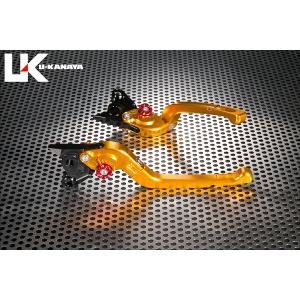 KTM 125DUKE(デューク) 可倒式Rタイプ アルミビレットレバーセット(ゴールド) U-KANAYA zerocustom