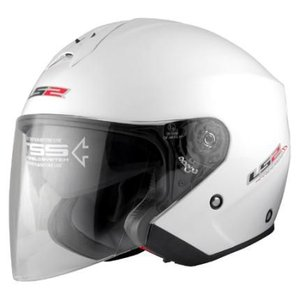 【セール特価】LS2 FREEWAY(フリーウェイ) パールホワイト(PEARL WHITE) Lサイズ ツインシールド・ジェット MHR|zerocustom