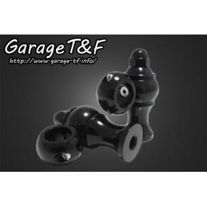 シャドウ400(SHADOW) ドッグボーンハンドルポスト (ブラック) ガレージT&F|zerocustom