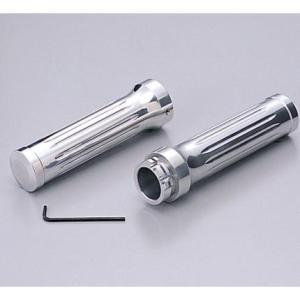 シャドウ400(SHADOW) アルミグリップ Φ1インチ(25.4mm)ハンドル用 ビレット ポリッシュアルマイト HURRICANE(ハリケーン)|zerocustom