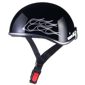 D'LOOSE D-356 ハーフヘルメット ブラック フレア フリー(57〜60cm未満) リード...