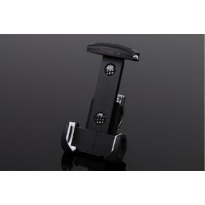アルミスマートフォンホルダー 本体ブラック/クランプ部シルバー(iPhone5/6/6 Plus対応) SSK(エスエスケー)|zerocustom