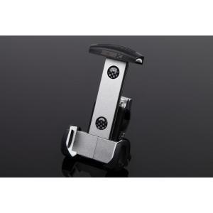 アルミスマートフォンホルダー 本体チタン/クランプ部シルバー(iPhone5/6/6 Plus対応) SSK(エスエスケー)|zerocustom