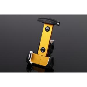 アルミスマートフォンホルダー 本体ゴールド/クランプ部シルバー(iPhone5/6/6 Plus対応) SSK(エスエスケー)|zerocustom
