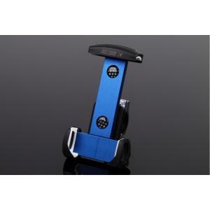 アルミスマートフォンホルダー 本体ブルー/クランプ部シルバー(iPhone5/6/6 Plus対応) SSK(エスエスケー)|zerocustom