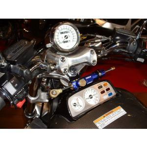V-MAX1200(85〜08年) CNCステアリングダンパーステー 75mm ブラック ハイパープロ(HYPER PRO)|zerocustom