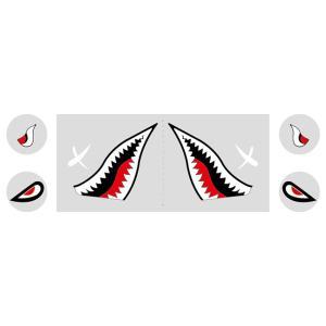 GSX400Sカタナ シャークマウスステッカー タイプ1 WORLD WALK(ワールドウォーク)|zerocustom