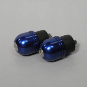 ゼファー400(ZEPHYR) カワサキ車用バーエンド(ボルト径5mm/外径Φ22mm) ブルー POSH(ポッシュ)|zerocustom