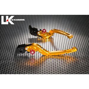 KTM 1290SUPERADVENTURE(アドベンチャー) 可倒式Rタイプ アルミビレットレバーセット(ゴールド) U-KANAYA|zerocustom