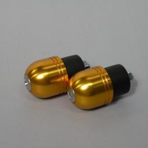 ZRX400/2 カワサキ車用バーエンド(ボルト径5mm/外径Φ22mm) ゴールド POSH(ポッシュ)|zerocustom