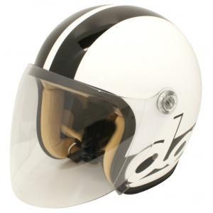 【セール特価】JET-S ダムフラッパー ホワイト/ブラック フリーサイズ(57cm〜58cm)レディース用シールド付ヘルメット DAMM TRAX(ダムトラックス)|zerocustom