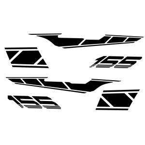 マジェスティS(MAJESTY)SG28J ストロボステッカー【単色】 ブラック WORLD WALK(ワールドウォーク)