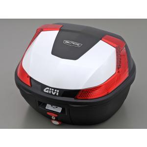 【セール特価】モノロックケース B37B912 パールホワイト塗装 GIVI(ジビ)|zerocustom
