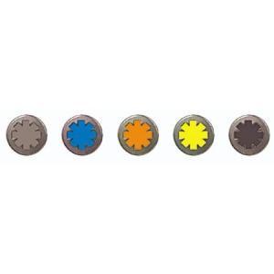 【セール特価】ウィールドットボタン イエロー DAMM TRAX(ダムトラックス)|zerocustom