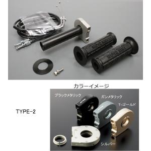 KTM125DUKE(11〜12年) スロットルキット ホルダー タイプ2/ブラックメタリック 巻取Φ40 グロメット付属 ACTIVE(アクティブ) zerocustom