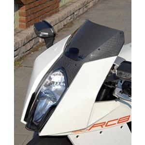 KTM 1190 RC8 カーボントリムスクリーン 平織りカーボン製/スモーク MAGICAL RACING(マジカルレーシング) zerocustom