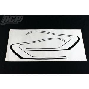 GT380 純正タイプラインステッカーセット 白/黒 ACP(エーシーピー)|zerocustom