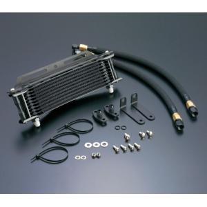 CBX400F オイルクーラーキット ラウンド #6 9-10R ブラック仕様 ACTIVE(アクティブ)|zerocustom