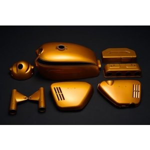 CB750Four(K0) K0 キャンディゴールド外装5点セット  エムテック中京(M-TEC中京) zerocustom