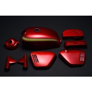 CB750Four(K0) K0 キャンディレッド外装5点セット  エムテック中京(M-TEC中京) zerocustom