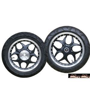 PCX125 13インチ カスタムアルミホイール&タイヤ&ベアリングセット ブラック MAD MAX(マッドマックス) zerocustom
