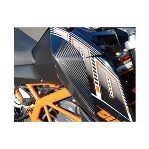 KTM 125DUKE タンクサイドパッド 平織りカーボン製 MAGICAL RACING(マジカルレーシング)|zerocustom