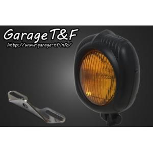 イントルーダー400クラシック(〜08年) エレクトロライン54レプリカヘッドライト(ブラック)&ライトステー(タイプB)KIT ガレージT&F|zerocustom