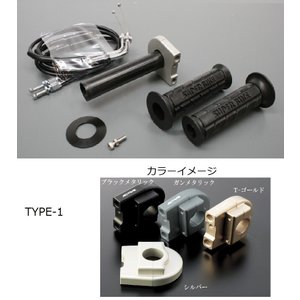 KTM125DUKE(11〜12年) スロットルキット ホルダー タイプ1/ブラックメタリック 巻取Φ40 グロメット付属 ACTIVE(アクティブ)|zerocustom