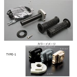 KTM125DUKE(11〜12年) スロットルキット ホルダー タイプ1/ガンメタリック 巻取Φ42 グロメット付属 ACTIVE(アクティブ)|zerocustom