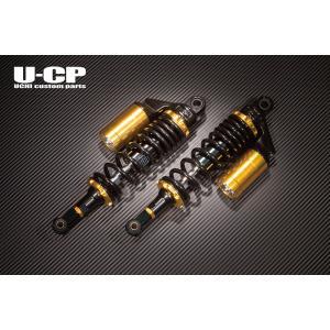 ゼファー400(ZEPHYR) リアサスペンション(ブラック&ゴールド) U-CP(ユーシーピー)|zerocustom